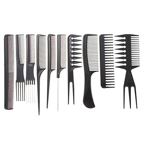 Hacoly 10er Haar Kamm Set Haarpflege Styling Hairbrush Friseur Feiner Zahn Haarbürste Damen Männer Professionelle Salon Barbers Kämme Frisierkamm Haarfärbemittel Friseur bevorzugt