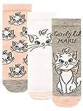 Disney Mädchen Socken Packung mit 3 Aristocats Mehrfarbig 37-40