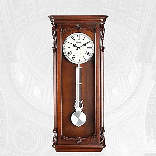 QOHG Wall Wall Clocks Westminster Chime Vintage Sala de Estar Decoración de la batería Péndulo Péndulo