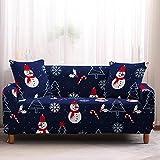 Mrzyzy Funda Sofa Elasticas 1 2 3 4 Plazas Fundas de Sofa Ajustables Fundas Decorativa para Sofá Tema Navideño Estampadas Impresa Cubre Sofa (Color : F, Size : 3 Seater (190-230cm))