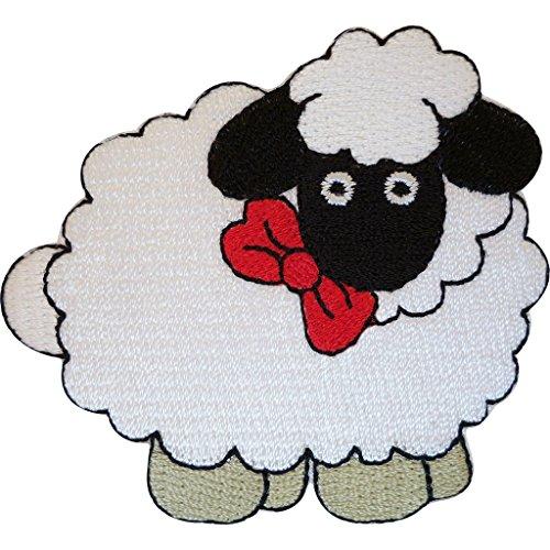 Parche bordado de oveja para planchar para coser o coser en ropa, diseño de bordado