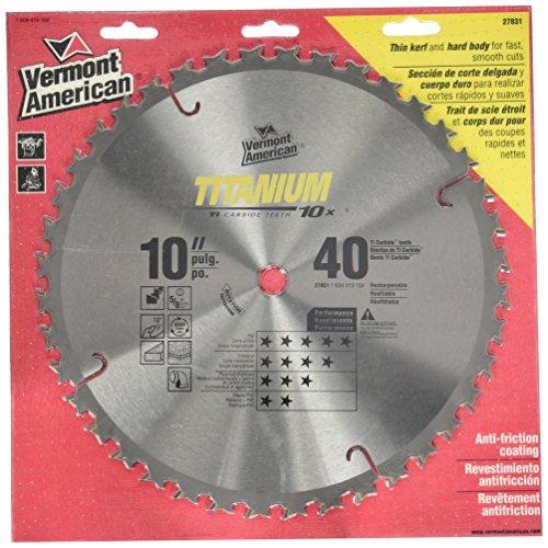 Vermont American 278315/8-inch Arbor 25,4cm della serie Titanium, 40denti, lama per sega circolare
