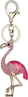 wsloftyGYd Shiny Rhinestone Flamingo Cute Car Keychain Cell Phone Key Pendant Handbag Key Ring