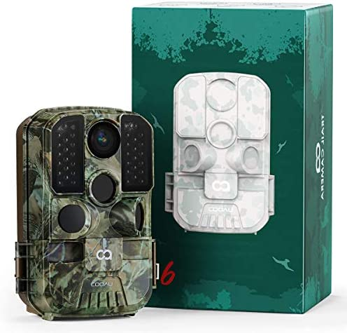 WiFi Trail Camera COOAU 24MP 1296P Hunting Game Trail Cam with No Glow Night Vision Motion Activated product image