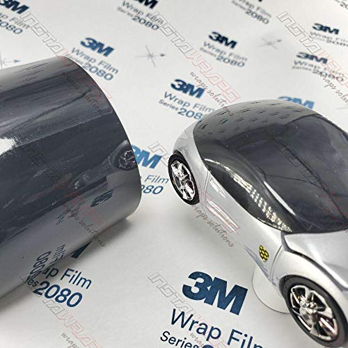 3M 2080 G12 Gloss Black 5ft x 5ft (25 Sq/ft) Car Wrap Vinyl Film