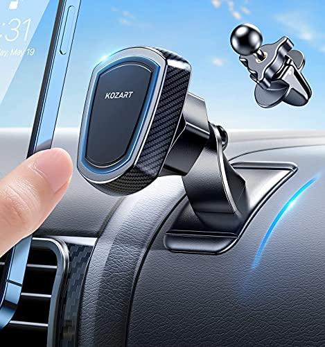 Soporte magnético para teléfono móvil para Coche, Salpicadero 360° Rotación, Soporte magnético para salpicadero, Compatible con iPhone/Samsung