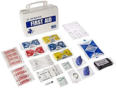 Certified Safety K610-031 16PW ANSI 25 Man First Aid Kit in Poly White by Builders World Wholesale Distribution