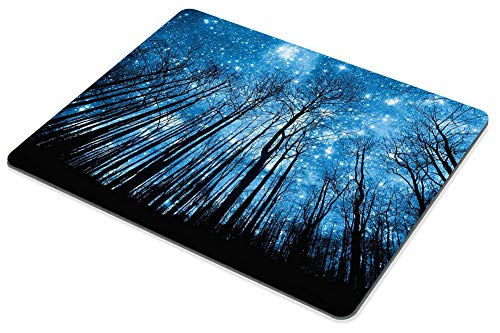 Smooffly Gaming Mousepad Psychedelic Starry Night Forest Mouse pad, Fantastic Galaxy Landscape Mouse pad Non-Slip Rubber Rectangle Mouse Pads for Computers Laptop Photo #4