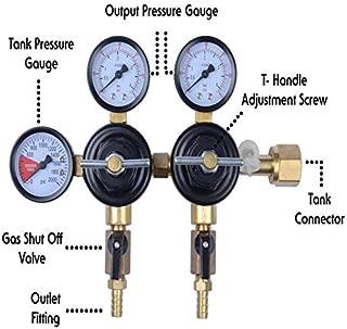 MOD Complete MDC99007 CO2 Beer Regulator Dual Pressure Kegerator Heavy Duty Features T-Style Adjusting Handle - 0 to 60 PSI-0-3000 Tank Pressure CGA-320 Inlet w/ 3/8