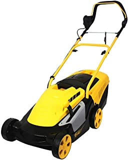 UYZ Cortacésped eléctrico, cortacésped de Empuje doméstico, Ajuste de 6 velocidades, Ancho de Corte 34 cm