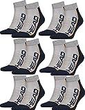 HEAD Unisex Performance Quarter Socken Sportsocken 12er Pack (grau/Navy, 43/46)