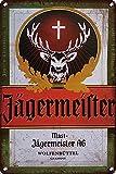 Letrero de metal de Monica Tin Sign para Whisky Drink Cold Ice Bollte...