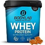 Protein-Pulver Bodylab24 Whey Protein Toffee 2kg / Protein-Shake für Kraftsport und Fitness / Whey-Pulver kann den Muskelaufbau unterstützen / Hochwertiges Eiweiss-Pulver mit 80% Eiweiß / Aspartamfrei