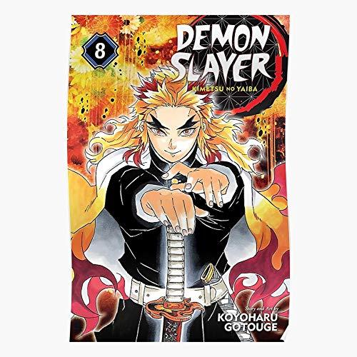 Demon Manga Nezuko Zenitsu Slayer Anime No Tanjiro Yaiba Inosuke Kimetsu Regalo para la decoración del hogar Wall Art Print Poster 11.7 x 16.5 inch
