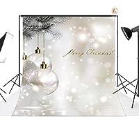 LB 10x10フィート クリスマスボール ビニール写真背景 カスタマイズ写真背景 スタジオ小道具 SD212