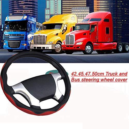 ZJWZ Cubierta del Volante del Carro para El Tamaño Universal Los 42-50CM Scania R, P Y Serie De S,47CM