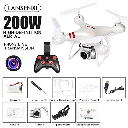 DishyKooker LF608 WiFi FPV RC Drohne Quadcopter mit 0.3MP / 2.0MP / 5.0MP Kamera Erhalten Sie die längere Spielzeit Weiß 2MP