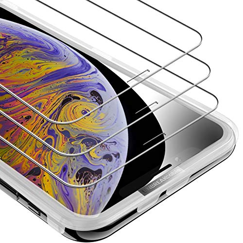 UNBREAKcable iPhone 11 Pro Max/XS Max Panzerglas [3 Stück] 9H Härte Panzerglasfolie (6.5 Zoll), 2.5D Displayschutzfolie, 3D-Touch, Kratzfest, Anti-Fingerprint, und Blasenfrei