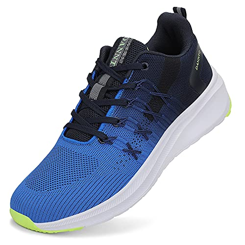 DANNTO Zapatillas de Deporte Hombre Mujer Running Zapatos para Correr Gimnasio Sneaker Deportivas Padel Transpirables Casual Calzado Unisex Azul 42
