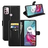 betterfon Hülle für Motorola Moto G10 / G20 / G30 - Handyhülle Moto G10 / Moto 20 / Moto G30 Flip Case Klapphülle Schutzhülle mit Kartenfächer für Motorola Moto G10 / G20 / G30 PU Leder Schwarz