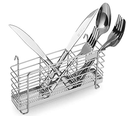 Sturdy 304 Stainless Steel Utensil Drying Rack Basket Holder...