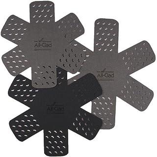 All Clad Textiles - Juego de 3 Protectores de Cocina para ollas y sartenes, Evita arañazos y astillas, 100% poliéster no Tela, 3 tamaños Diferentes, se Adapta a ollas y sartenes de hasta 14 Pulgadas