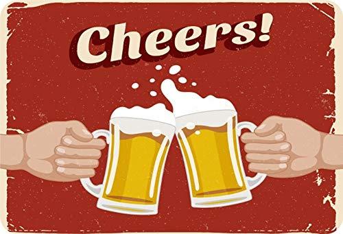 Metalen bord Bier Cheers! Proost. Metalen bord wanddecoratie 20x30 cm tin Sign