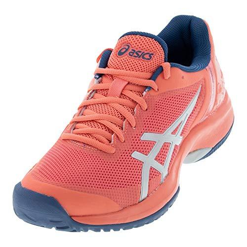 ASICS Women's Gel-Court Speed Tennis Shoes, 7, Papaya/Silver