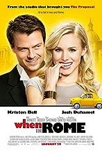 WHEN IN ROME Original Movie Poster 27x40 - Dbl-Sided - Josh Duhamel - Kristen Bell - Anjelica Huston - Will Arnett