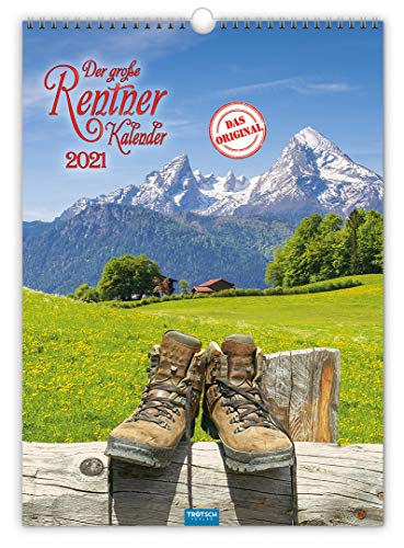 """Großbildkalender """"Der große Rentnerkalender"""" 2021: 30 x 42 cm, großes Kalendarium und aufwendige Rückseitengestaltung"""