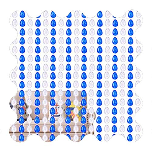 XD Panda Cortina de Cristal,Cortina de Cuentas de Cristal Cortinas para Puertas Cuentas Transparentes Brillantes Puertas Colgantes de plástico acrílico Decoración de Cuerdas Interior al Aire Libre, e