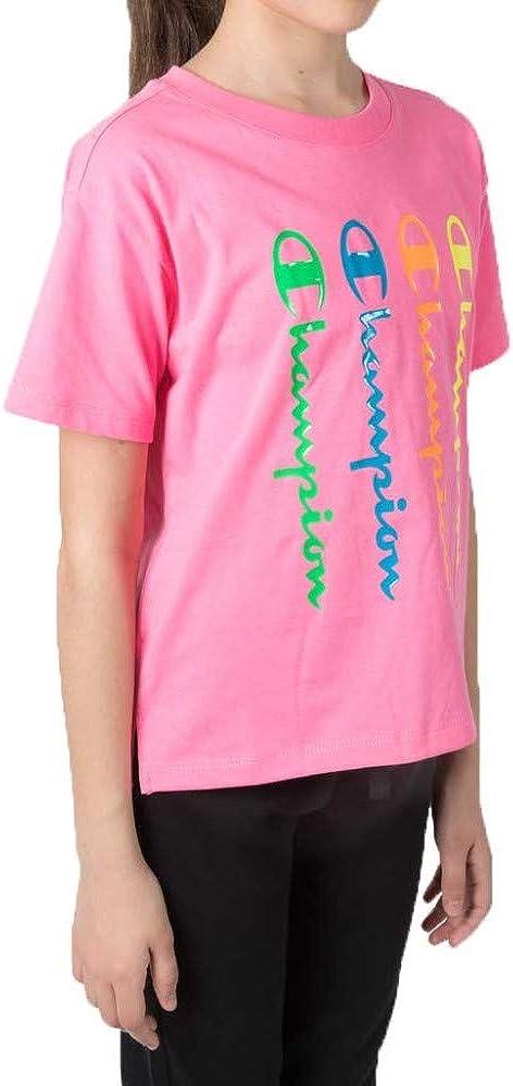 Champion Seasonal Back To The Beach Boxy Crewneck T-Shirt Camiseta para Ni/ñas