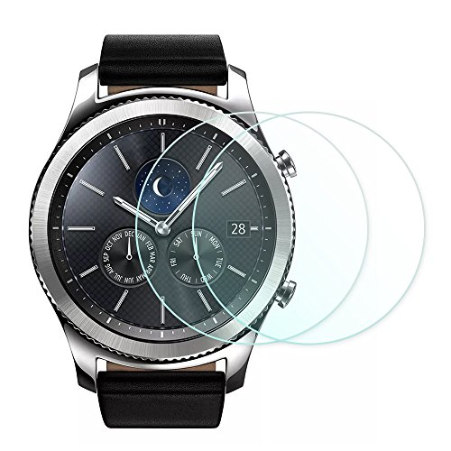 AWINNER Film 0.2mm Tempered Screen Protector for Samsung Gear S3 (9H) (2-Pack)