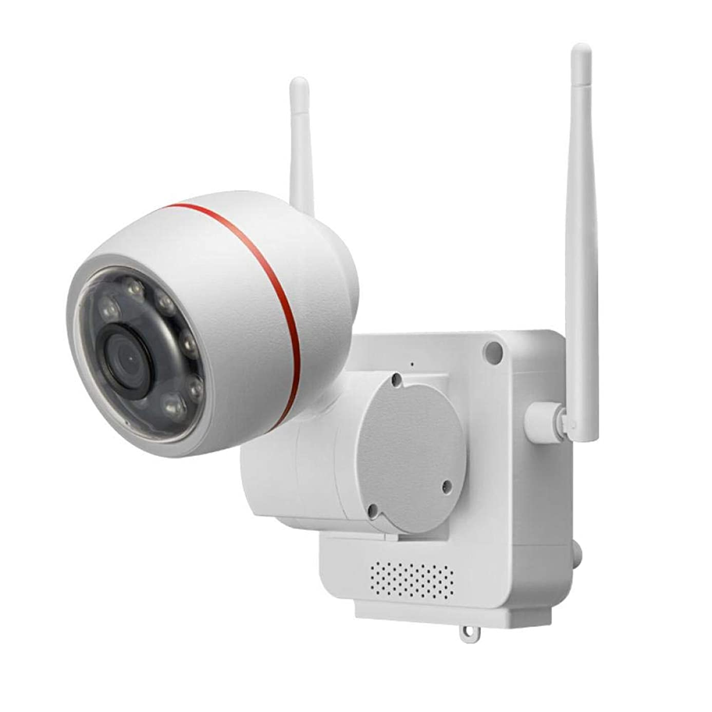 PETU Outdoor Security Camera, 1080P HD Waterproof Video Surveillance WiFi Network Security System Compatible with iOS and Android (White, OneSize)