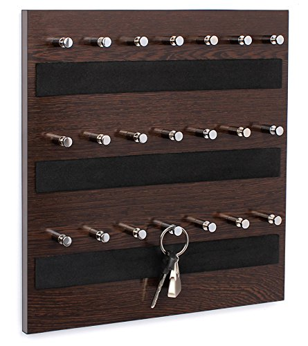 Bluewud Skywood Wall Mounted Key Chain Holder Board/Box (Wenge, 21 Keys)