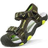Sandalias para niño Sandalias Deportivas Zapatillas de Trekking y Senderismo Unisex Niños(D Verde,32 EU)