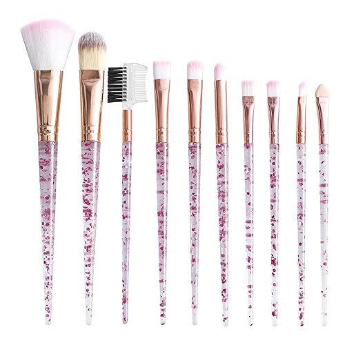 Maquillage Pinceau Série 10 Licorne Brillant Cristal Brillant Set De Maquillage Pour La Fondation Kabuki Mélange Correcteur Visage Yeux Brosse à maquillage XXYHYQ