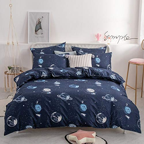 JONJUMP Fashion Bedding Set Pure Cotton A/B Double-sided Pattern Simplicity Bed Sheet Quilt Cover Pillowcase 4 Pcs