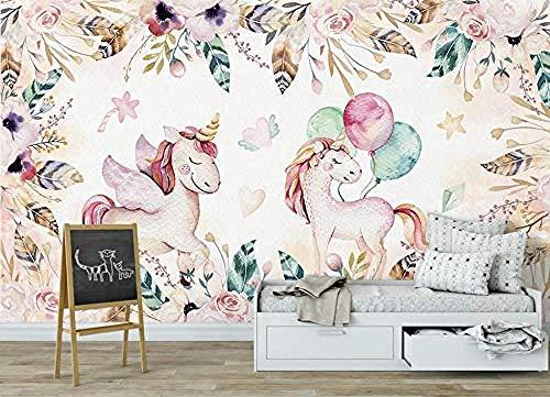 ZZXIAO Hand gezeichnete Pony Seitenwand Tapete Handbemalt für zu Hause Schlafzimmer Wohnzimmer Tapete Wandv wandpapier fototapete 3d effekt tapete Wohnzimmer Schlafzimmer Hintergrundbild-430cm×300cm