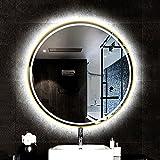 Espejo Baño Led Redondo Antivaho, Espejo de Pared LED, Espejo de Baño con Iluminación, para Maquillaje, Afeitado...