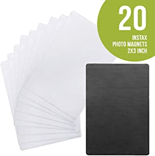 Sticky Shoot - 2x3 Inch Magnetic Picture Stickers for All Instax, Fujifilm and Polaroid Cameras - Adhesive Instant Photo Magnets for Instax mini, Zink and Snap films.