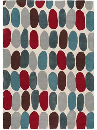 Benuta Wollteppich Matrix Sofia Multicolor 120x170 cm/Naturfaserteppich für Wohnzimmer und...