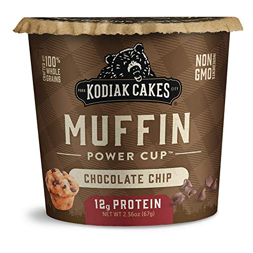 Kodiak Cakes Minute Muffins, Chocolate Chip, 2.36 Ounce (Pack of 12)