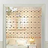 WUFENG Cortinas Cortina De Cuentas Vaso Cristal Moderno por Puerta Habitación Decoración Tabique, Una Variedad De Tamaños De Estilos Personalizable (Color : B, Tamaño : 80x80cm)