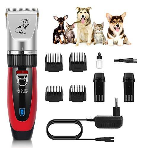 GHB Rojo GGTM02 – Mejor cortapelos para perros con máxima valoración Online