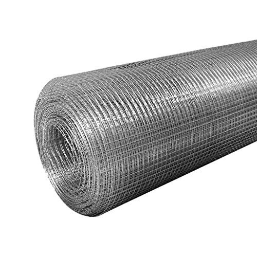 BBGS Wire Mesh Rolls Fencing Welded Netting Galvanized Steel Square Wire Mesh 60mm for Chicken Rabbit Garden Outdoor (Color : Style 1, Size : 3m)