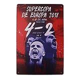 MARQUISE & LOREAN Placas Decorativas Pared Atlético de Madrid Chapas Metálicas del Campeón Si Eres Fiel Seguidor Mira Aquí
