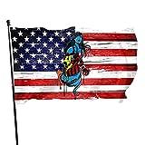 Rockabilly Cool Artworks Flag Summer Garden Flag Black American Flag 3x5 Outdoor Single Side Banner Sign