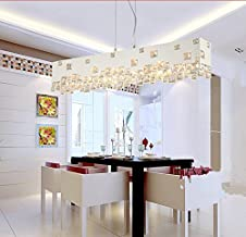 GOWE modern brief white black rectangular crystal chandelier lighting lustre dining room lamps E14 bulbs 110V 220V Lampsha...