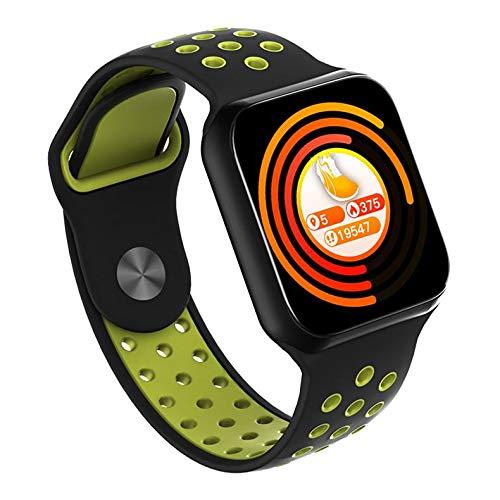 Reloj Inteligente F8 con Bluetooth, Resistente al Agua, con frecuencia cardíaca, presión Arterial, Monitor de sueño y Fitness, para Actividades al Aire Libre, Pulsera Deportiva TWS